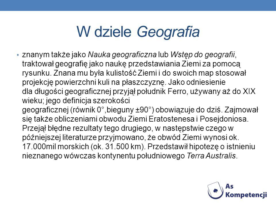 W dziele Geografia