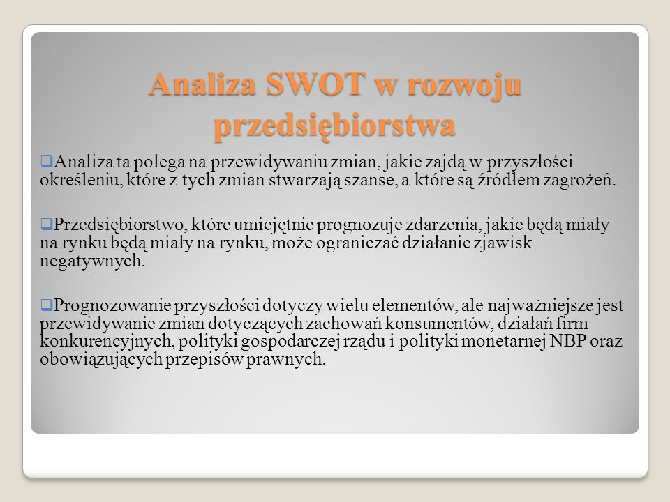 Analiza SWOT w rozwoju przedsiębiorstwa