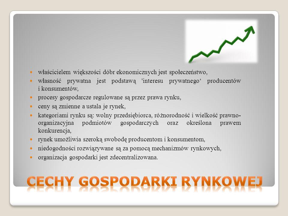 Cechy gospodarki rynkowej