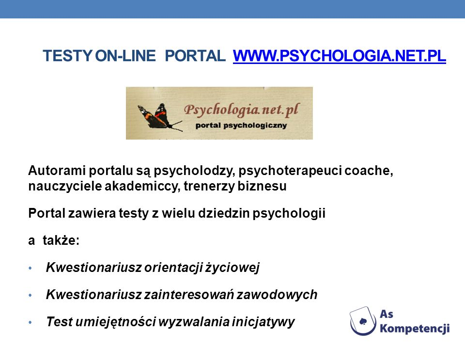 Testy on-line Portal www.psychologia.net.pl