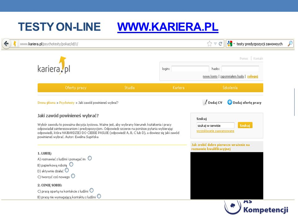 Testy on-line www.kariera.pl