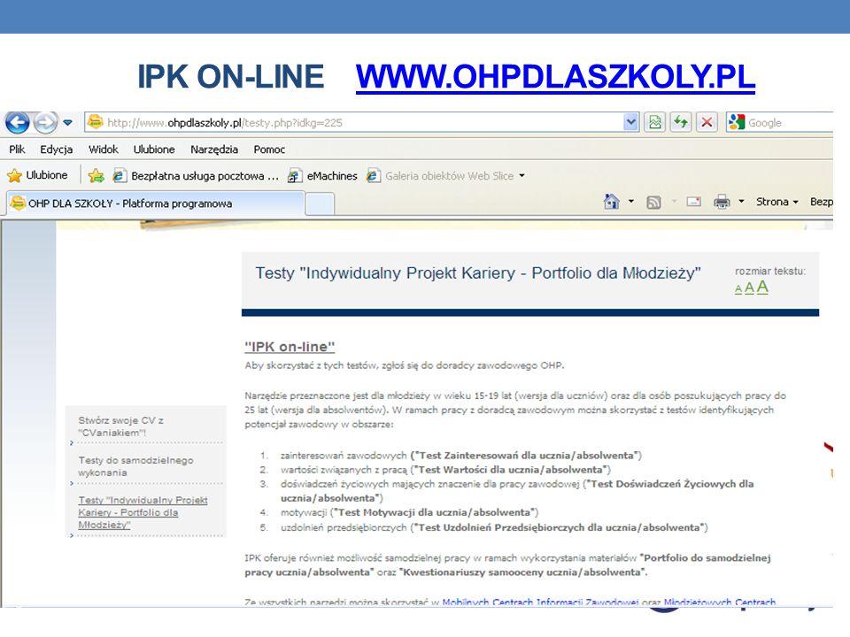 IPK on-line www.ohpdlaszkoly.pl