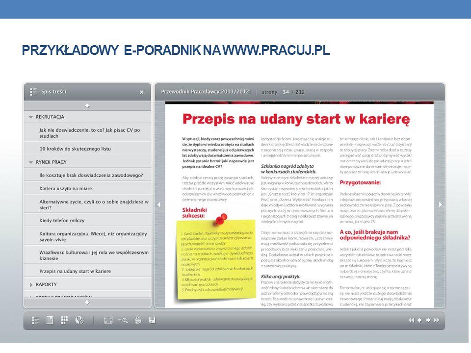 Przykładowy e-poradnik na www.pracuj.pl