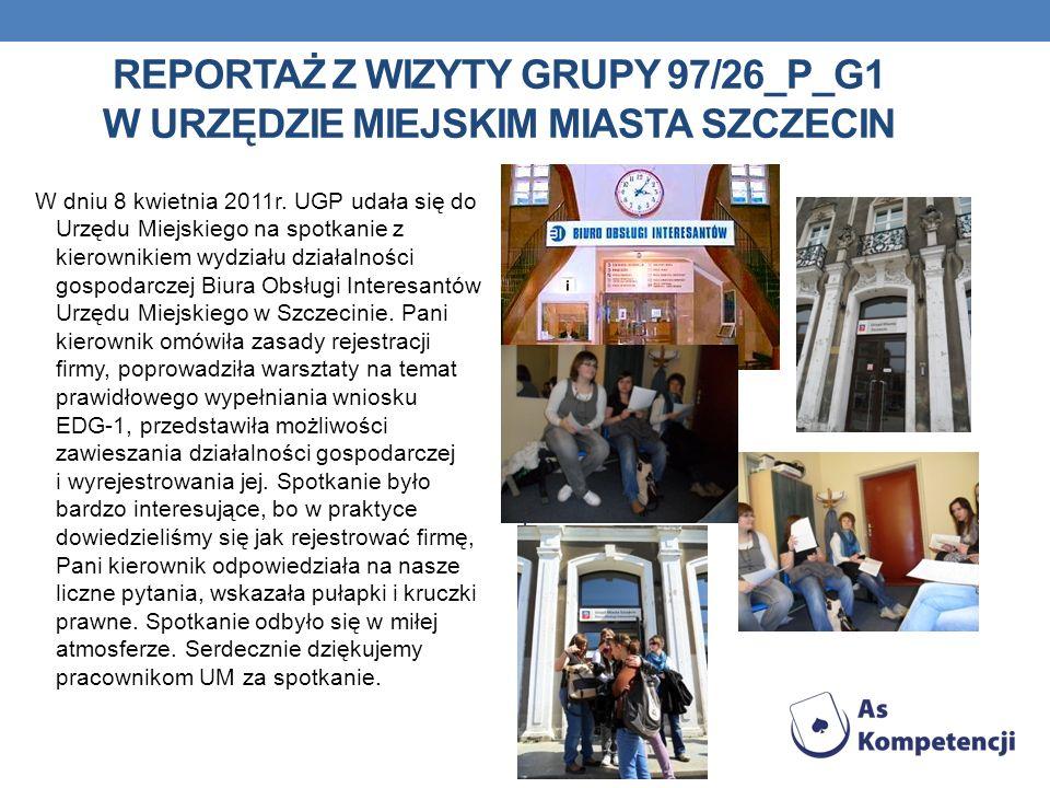 Reportaż z wizyty grupy 97/26_P_G1 w urzędzie miejskim miasta szczecin