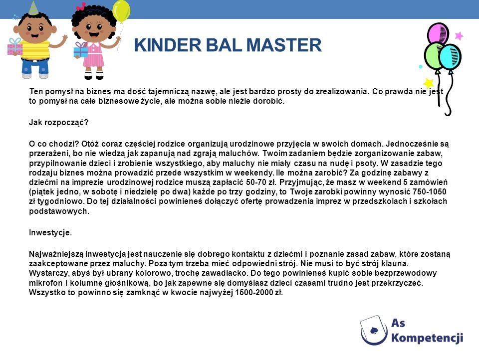 Kinder bal master