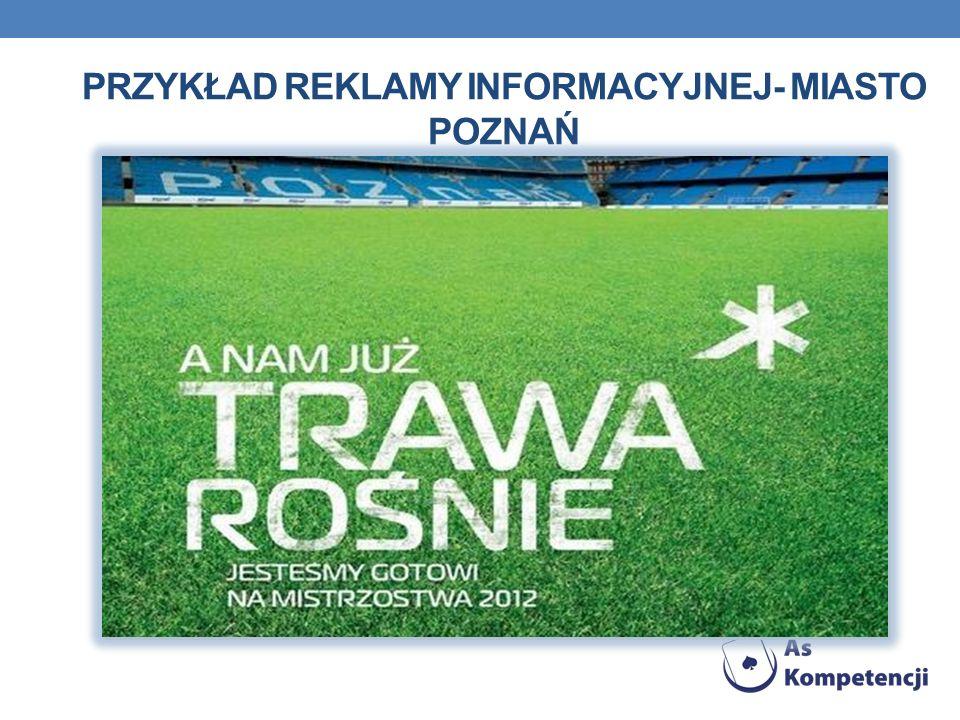 Przykład reklamy informacyjnej- Miasto Poznań