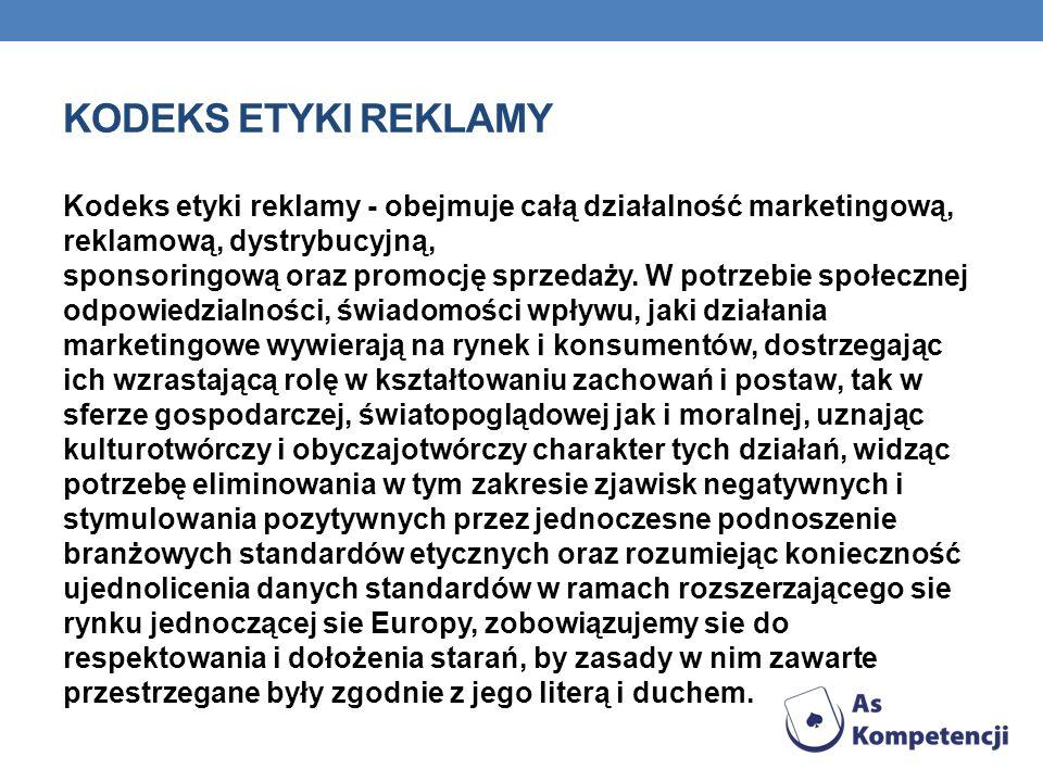 Kodeks etyki reklamy