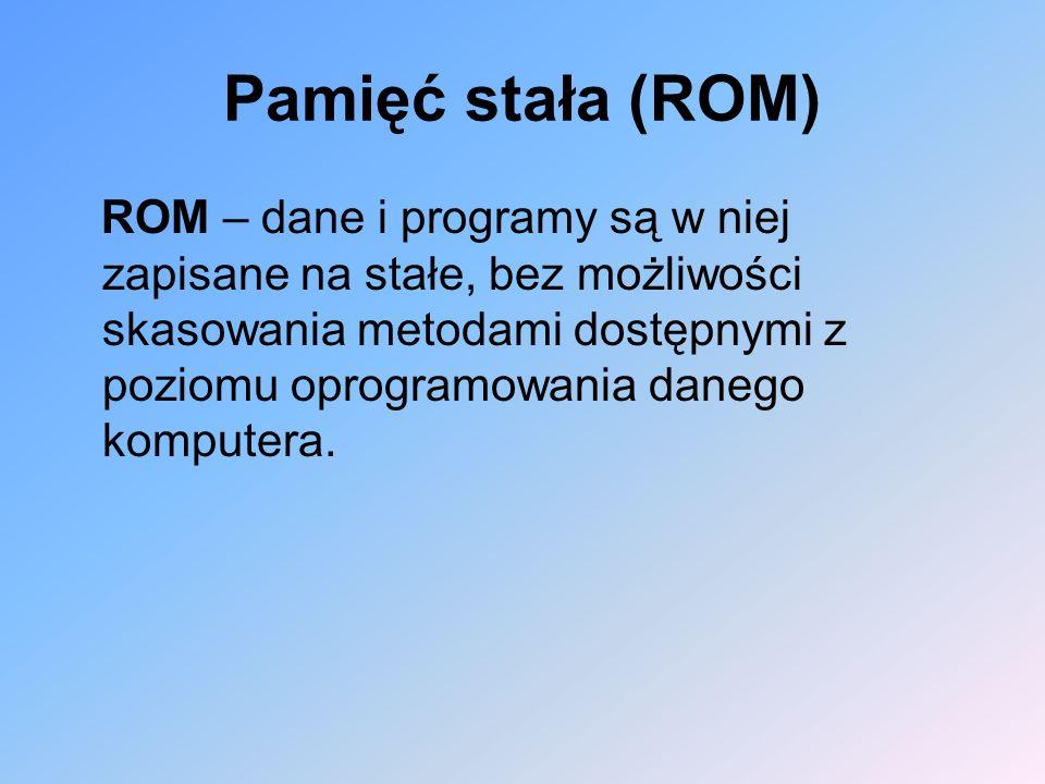 Pamięć stała (ROM)
