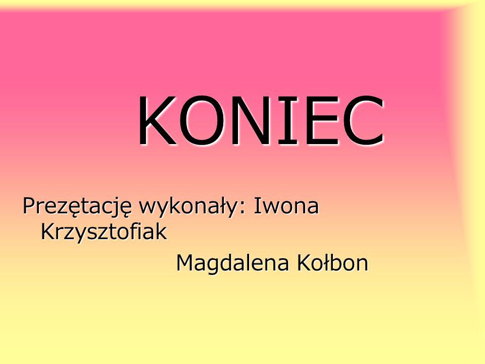 KONIEC Prezętację wykonały: Iwona Krzysztofiak Magdalena Kołbon