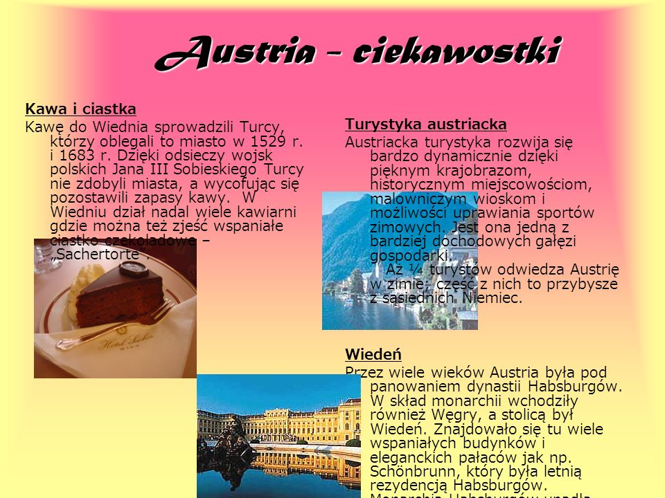 Austria - ciekawostki Kawa i ciastka