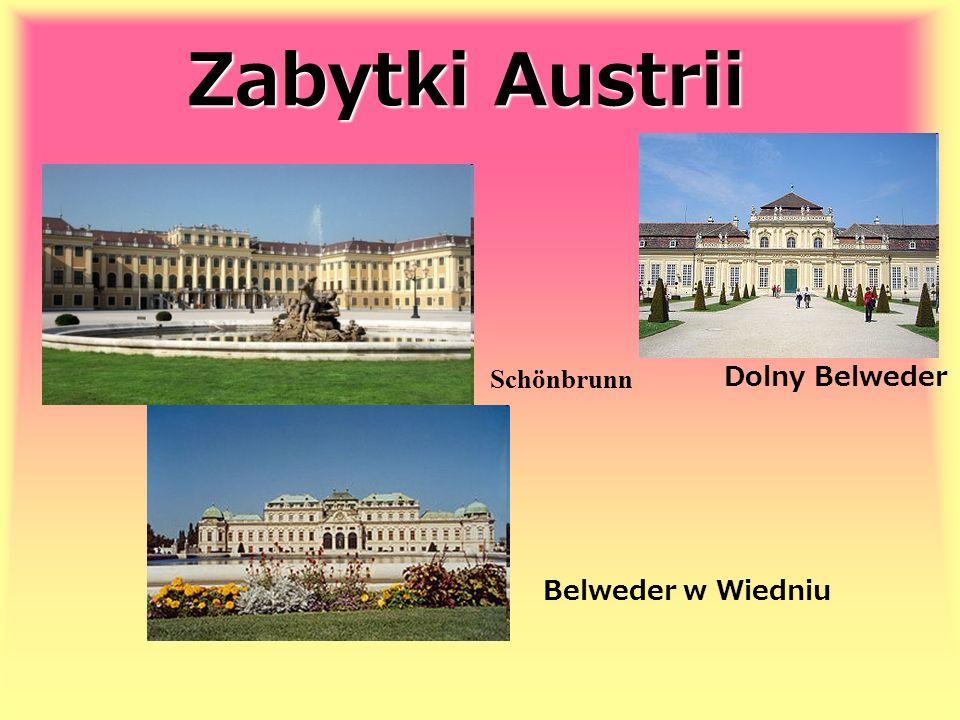 Zabytki Austrii Schönbrunn Dolny Belweder Belweder w Wiedniu
