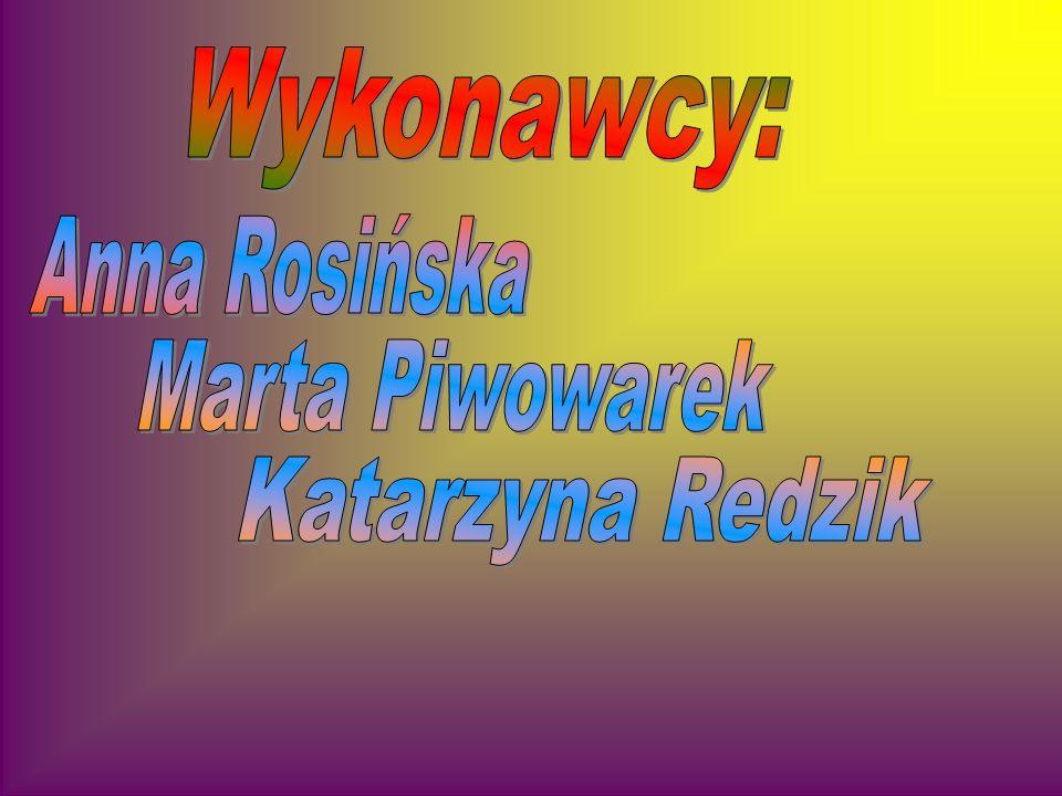 Wykonawcy: Anna Rosińska Marta Piwowarek Katarzyna Redzik