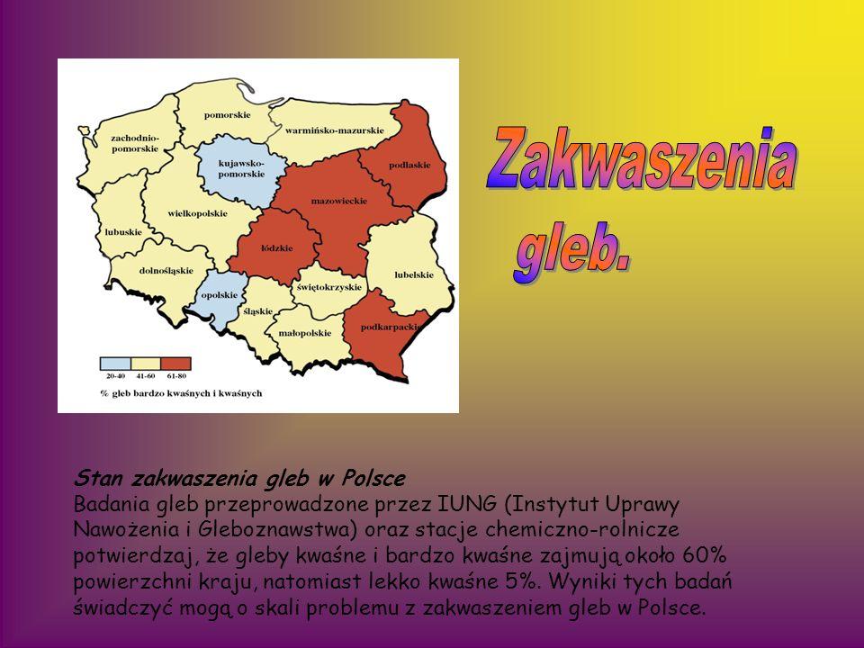 Zakwaszenia gleb. Stan zakwaszenia gleb w Polsce