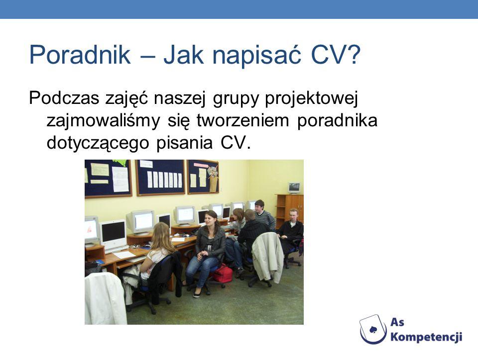 Poradnik – Jak napisać CV
