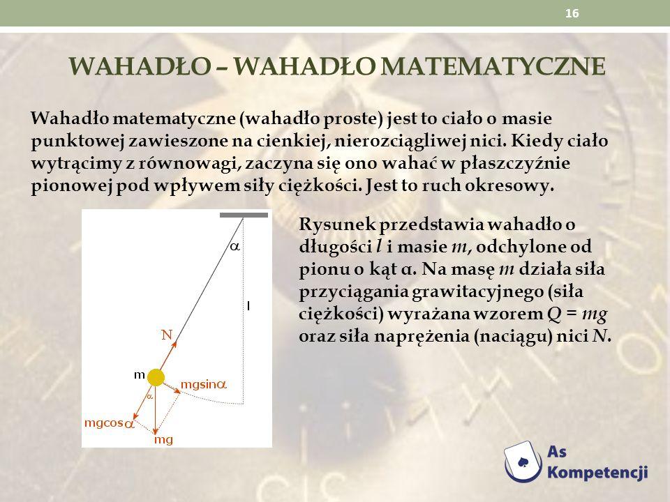 Wahadło – wahadło matematyczne