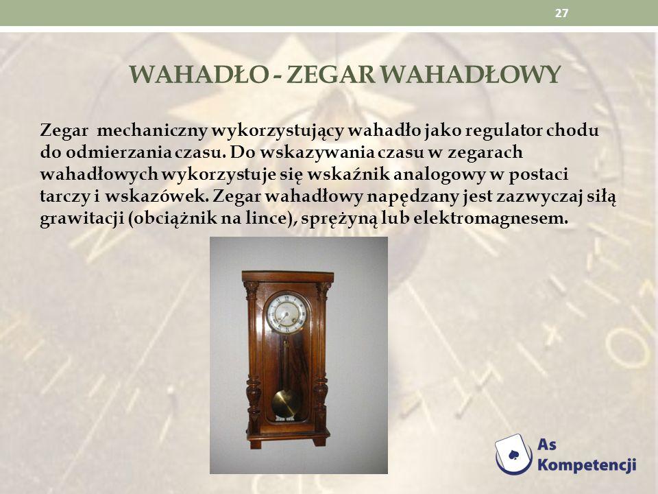Wahadło - Zegar wahadłowy