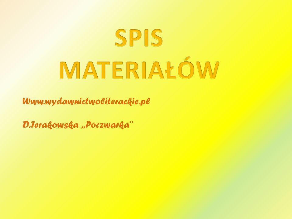 SPIS MATERIAŁÓW Www.wydawnictwoliterackie.pl