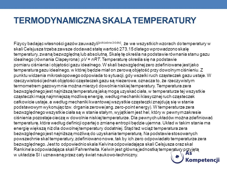 Termodynamiczna skala temperatury