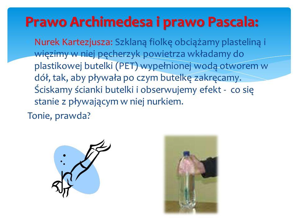 Prawo Archimedesa i prawo Pascala: