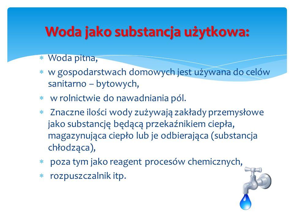 Woda jako substancja użytkowa:
