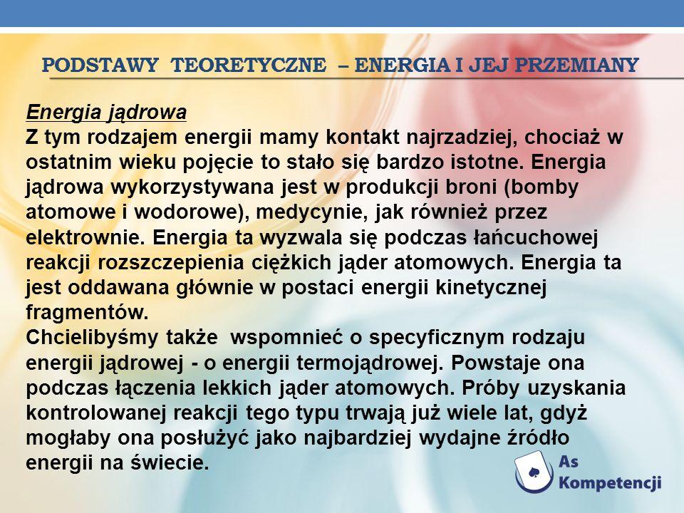 podstawy Teoretyczne – energia i jej przemiany