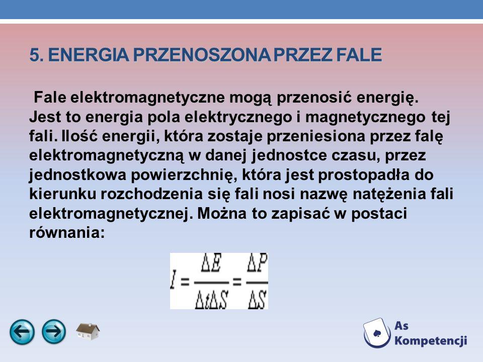 5. ENERGIA PRZENOSZONA PRZEZ FALE
