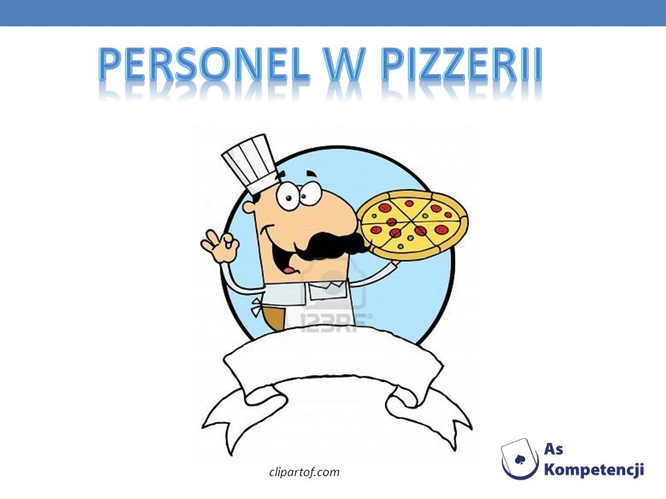 Personel w Pizzerii clipartof.com
