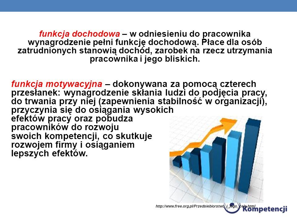 efektów pracy oraz pobudza pracowników do rozwoju