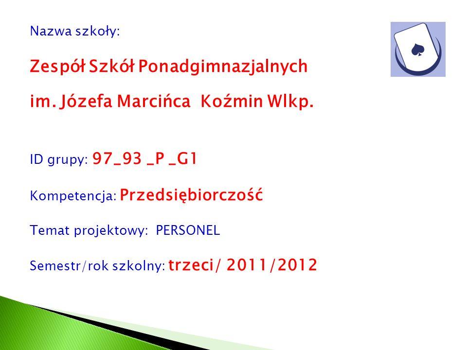Zespół Szkół Ponadgimnazjalnych im. Józefa Marcińca Koźmin Wlkp.