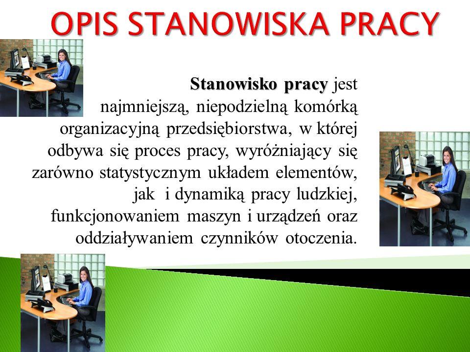 OPIS STANOWISKA PRACY