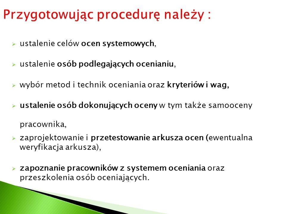 Przygotowując procedurę należy :