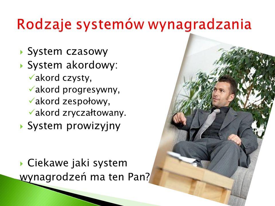 Rodzaje systemów wynagradzania