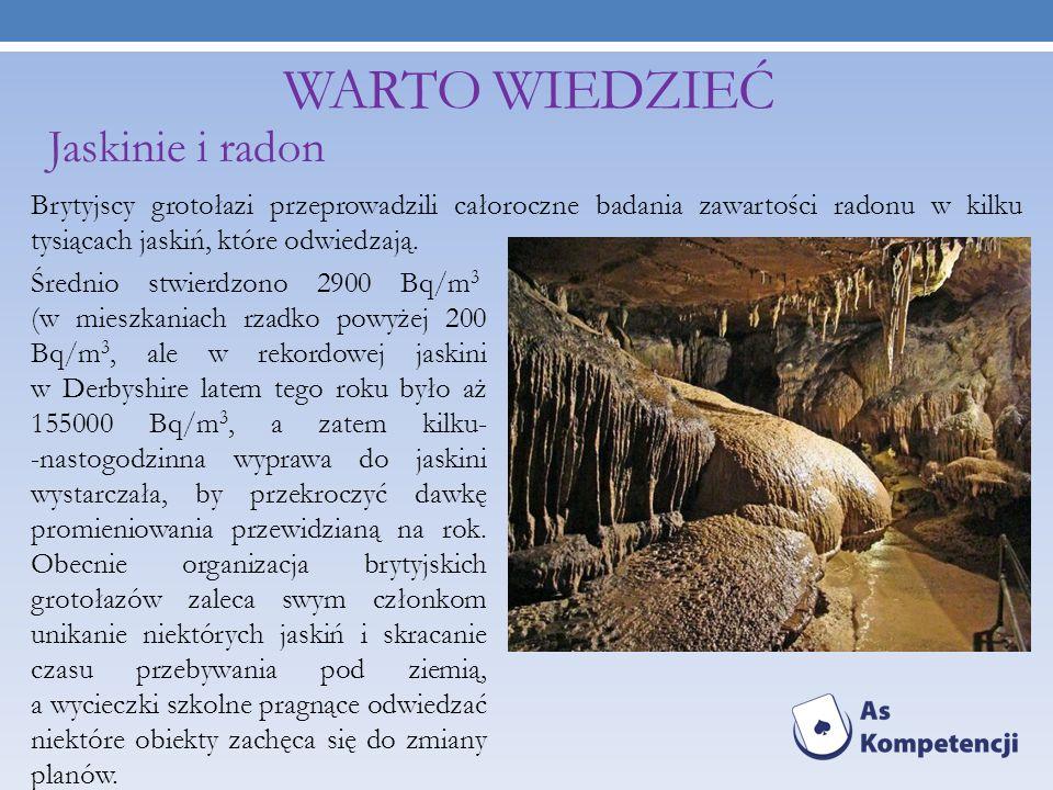 Warto wiedzieć Jaskinie i radon