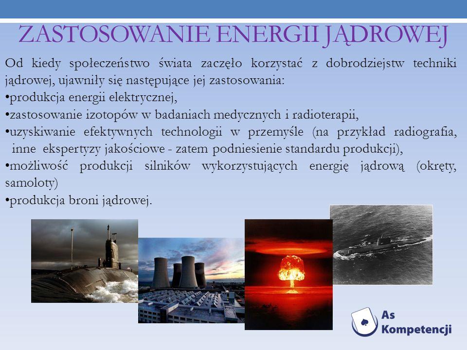 ZASTOSOWANIE ENERGII JĄDROWEJ
