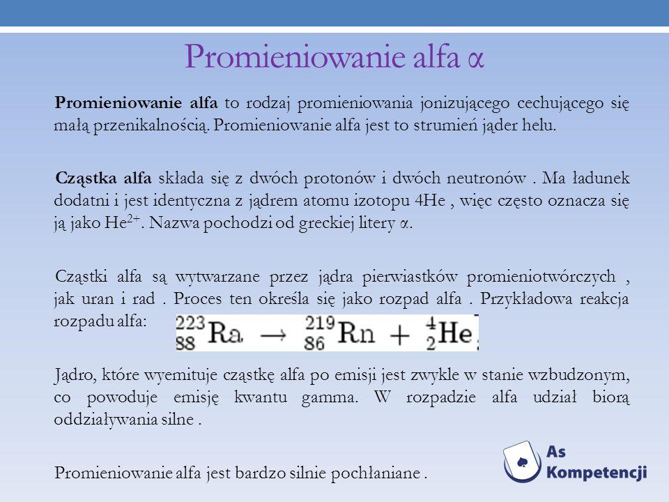 Promieniowanie alfa α