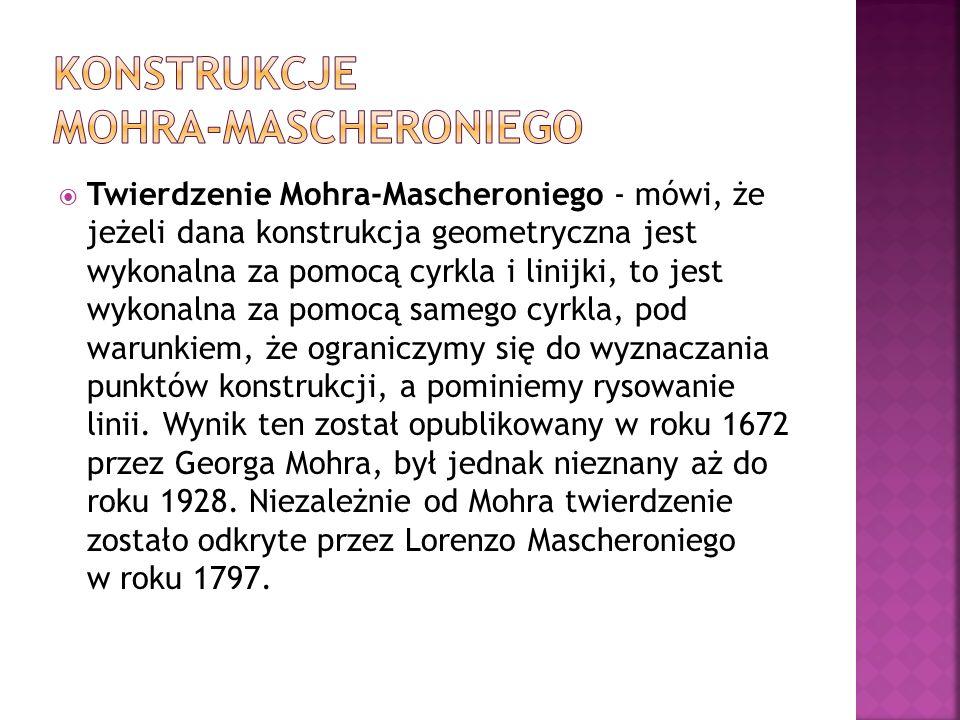 Konstrukcje Mohra-Mascheroniego