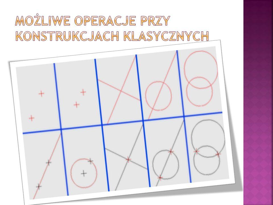 Możliwe operacje przy konstrukcjach klasycznych