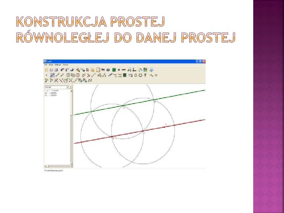 Konstrukcja prostej równoległej do danej prostej