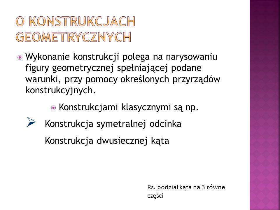 O konstrukcjach geometrycznych