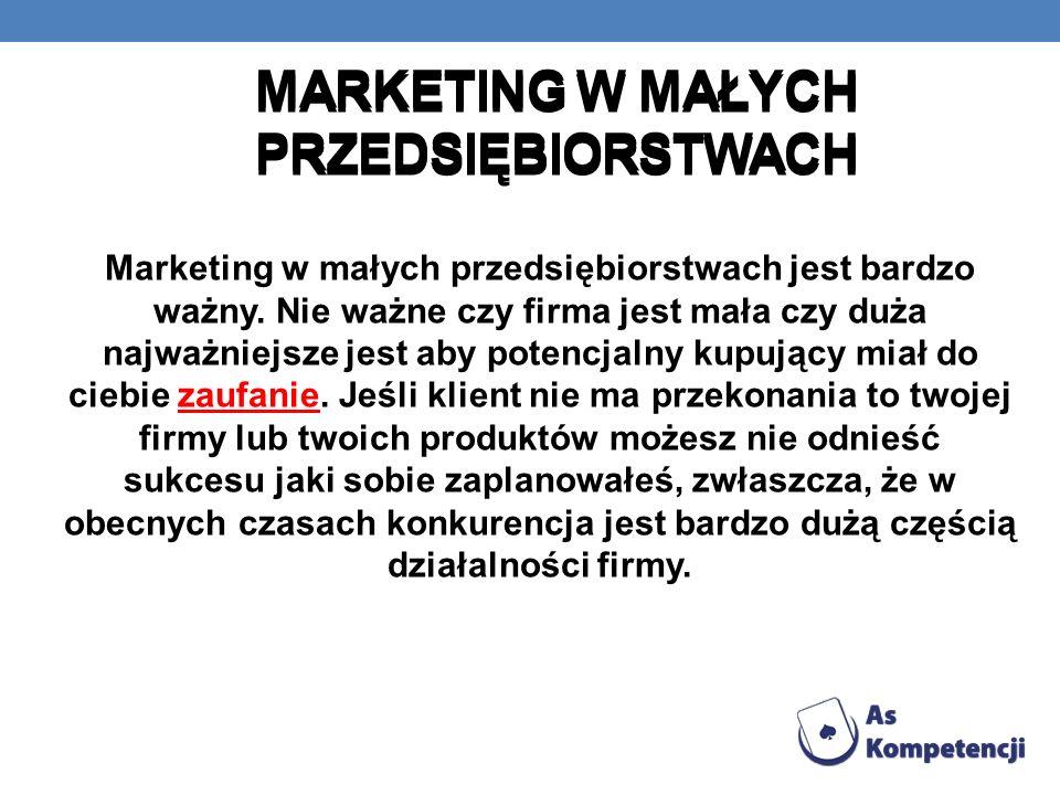 Marketing w małych przedsiębiorstwach