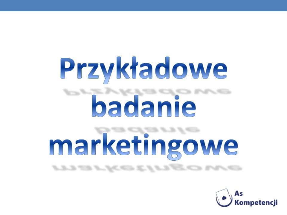 Przykładowe badanie marketingowe