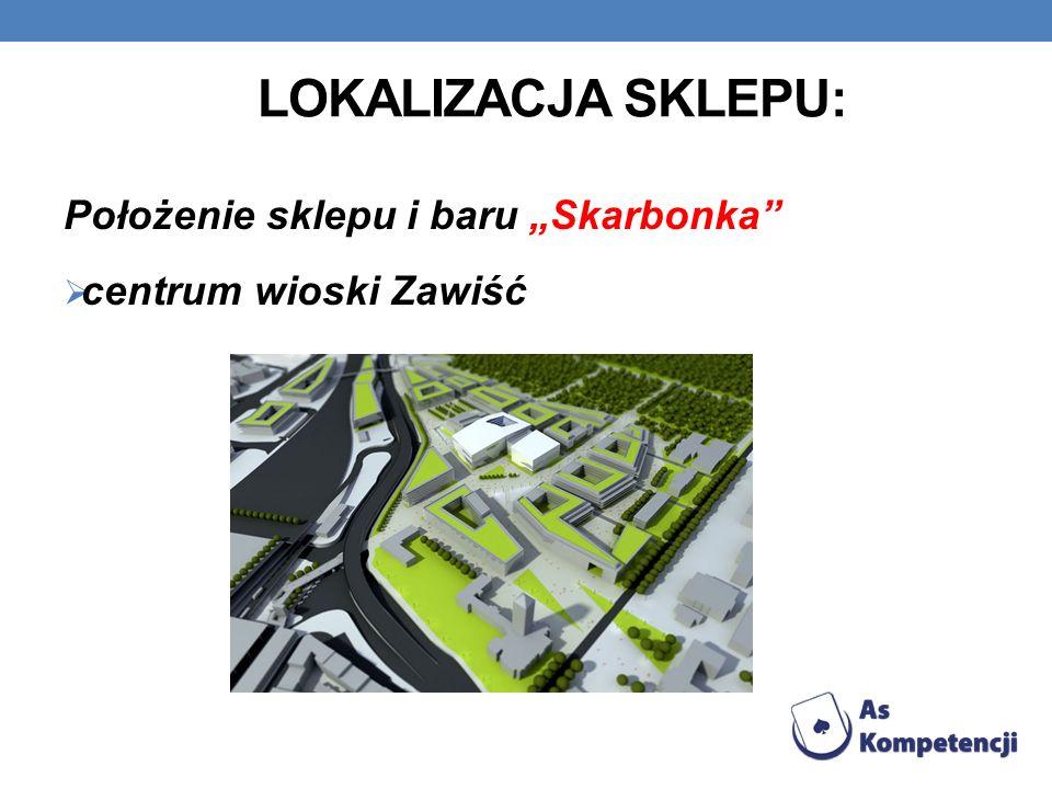 """Lokalizacja sklepu: Położenie sklepu i baru """"Skarbonka"""