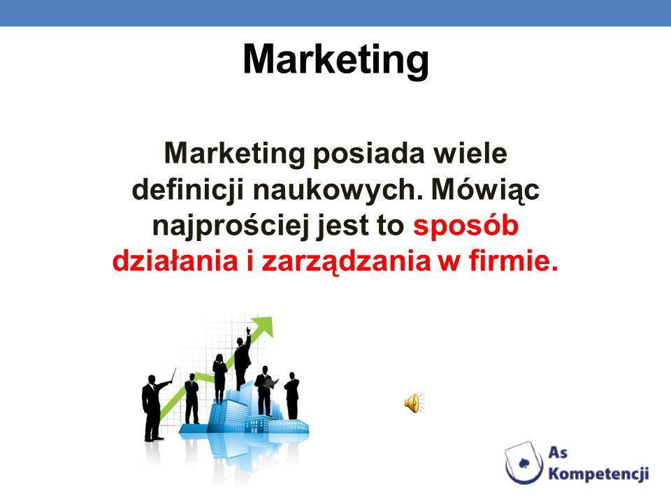 MarketingMarketing posiada wiele definicji naukowych.