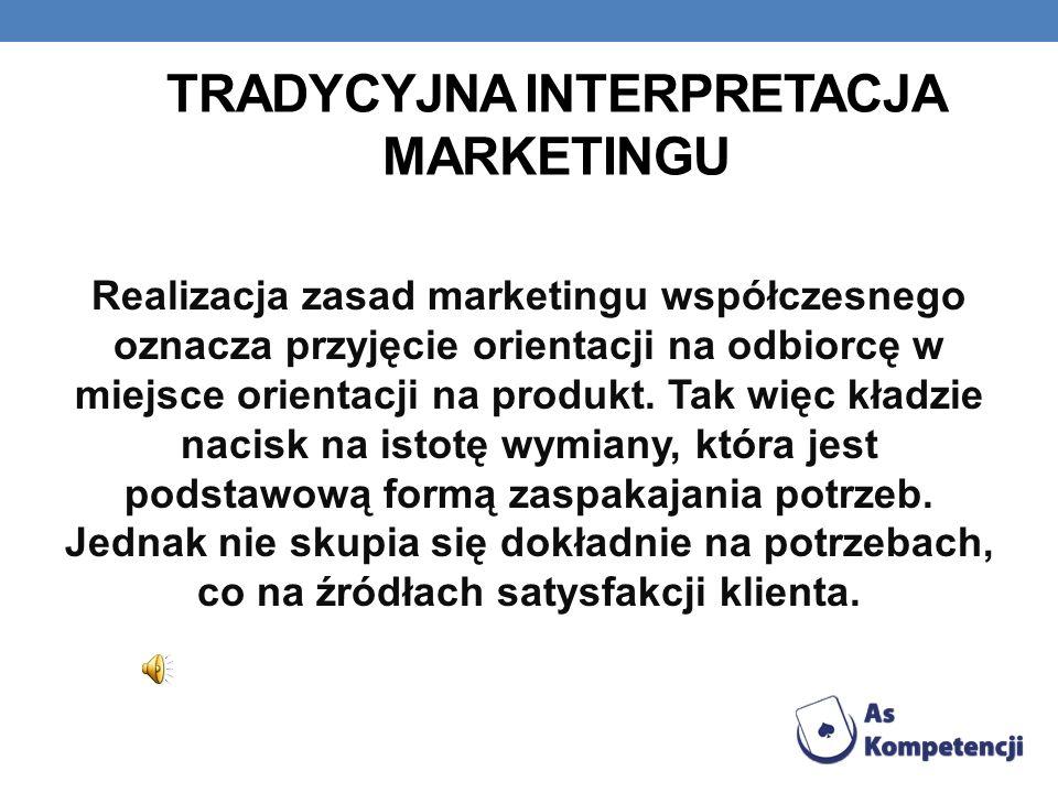 Tradycyjna interpretacja marketingu