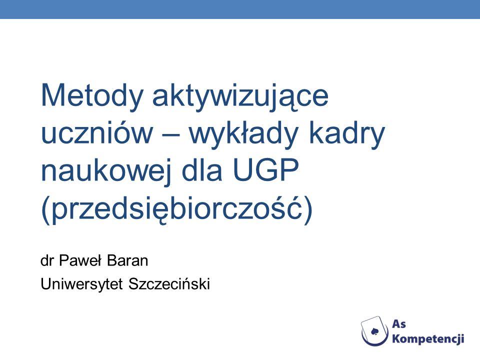 dr Paweł Baran Uniwersytet Szczeciński