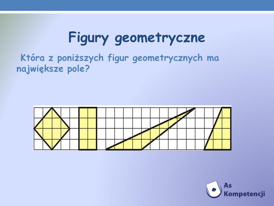 Figury geometryczne Która z poniższych figur geometrycznych ma największe pole
