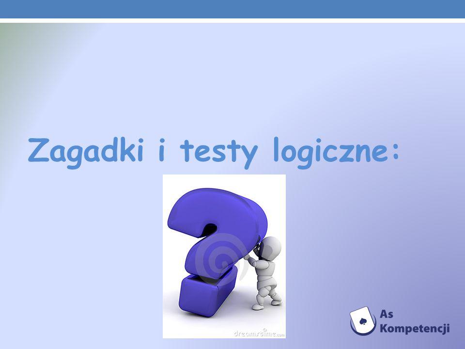 Zagadki i testy logiczne: