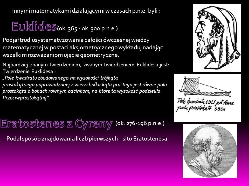 Euklides Eratostenes z Cyreny