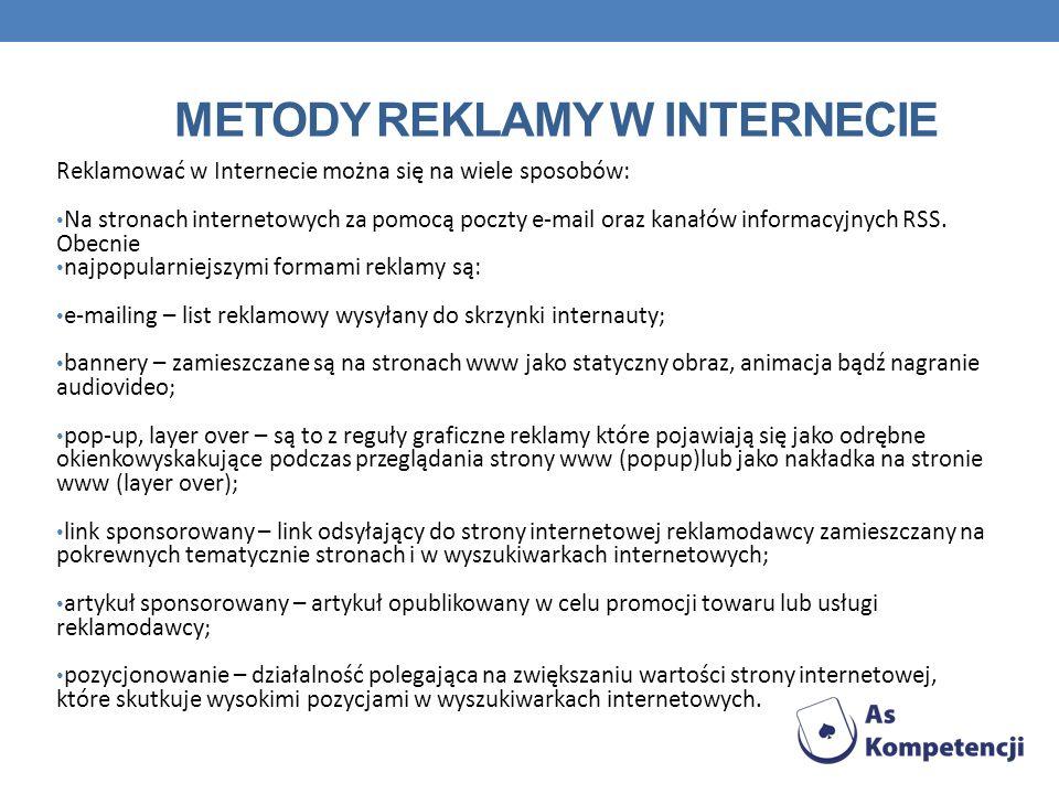 Metody reklamy w Internecie
