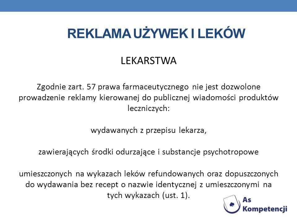 Reklama używek i leków LEKARSTWA
